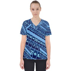 Mobile Phone Smartphone App Scrub Top