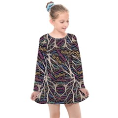 Mental Human Experience Mindset Kids  Long Sleeve Dress