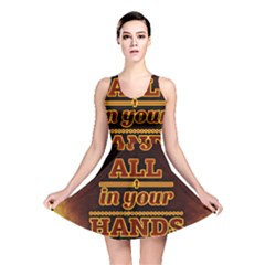 Motivation Live Courage Enjoy Life Reversible Skater Dress