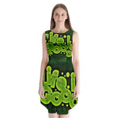 Motivation Live Courage Enjoy Life Sleeveless Chiffon Dress