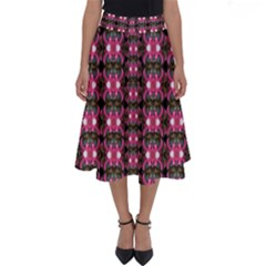 Butterflies In A Wonderful Forest Of Climbing Flowers Perfect Length Midi Skirt