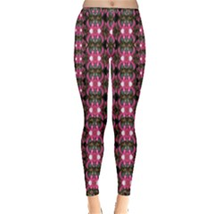 Butterflies In A Wonderful Forest Of Climbing Flowers Inside Out Leggings