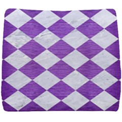 Square2 White Marble & Purple Brushed Metal Seat Cushion