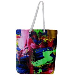 Global Warming 3 Full Print Rope Handle Tote (large) by bestdesignintheworld