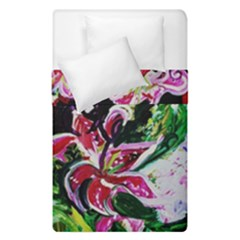 Lilac And Lillies 3 Duvet Cover Double Side (single Size) by bestdesignintheworld
