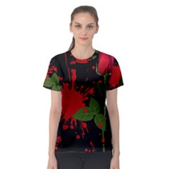 Background Texture Stain Women s Sport Mesh Tee