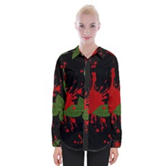 Background Texture Stain Womens Long Sleeve Shirt