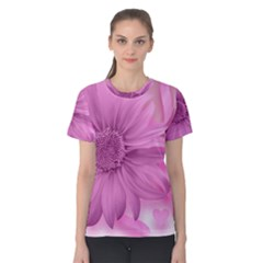 Flower Design Romantic Women s Cotton Tee