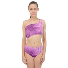 Flower Design Romantic Spliced Up Two Piece Swimsuit
