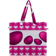 Love Celebration Easter Hearts Canvas Travel Bag by Sapixe