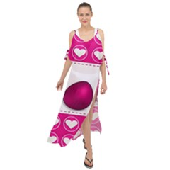 Love Celebration Easter Hearts Maxi Chiffon Cover Up Dress