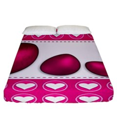 Love Celebration Easter Hearts Fitted Sheet (california King Size)