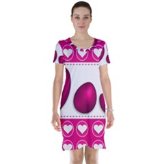 Love Celebration Easter Hearts Short Sleeve Nightdress