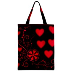 Background Hearts Ornament Romantic Zipper Classic Tote Bag by Sapixe