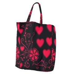Background Hearts Ornament Romantic Giant Grocery Zipper Tote by Sapixe