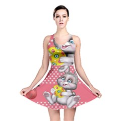 Illustration Rabbit Easter Reversible Skater Dress
