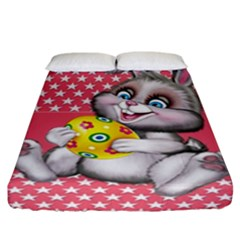 Illustration Rabbit Easter Fitted Sheet (california King Size)