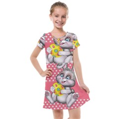 Illustration Rabbit Easter Kids  Cross Web Dress by Sapixe