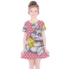 Illustration Rabbit Easter Kids  Simple Cotton Dress