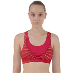 Background Texture Heart Love Back Weave Sports Bra by Sapixe