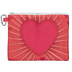Background Texture Heart Love Canvas Cosmetic Bag (xxl)