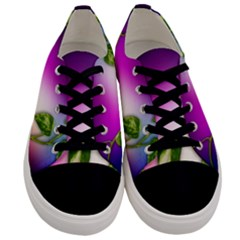 Leaves Green Leaves Background Men s Low Top Canvas Sneakers