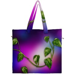 Leaves Green Leaves Background Canvas Travel Bag by Sapixe