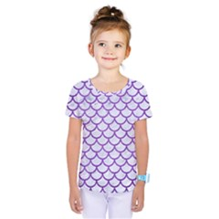 Scales1 White Marble & Purple Brushed Metal (r) Kids  One Piece Tee