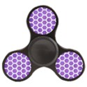 HEXAGON2 WHITE MARBLE & PURPLE BRUSHED METAL Finger Spinner View2
