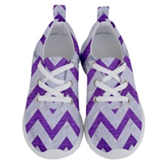 Chevron9 White Marble & Purple Brushed Metal (r) Running Shoes