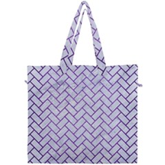 Brick2 White Marble & Purple Brushed Metal (r) Canvas Travel Bag by trendistuff