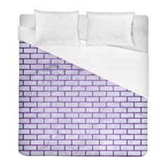Brick1 White Marble & Purple Brushed Metal (r) Duvet Cover (full/ Double Size) by trendistuff