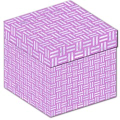 Woven1 White Marble & Purple Colored Pencil Storage Stool 12   by trendistuff