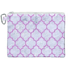 Tile1 White Marble & Purple Colored Pencil (r) Canvas Cosmetic Bag (xxl) by trendistuff