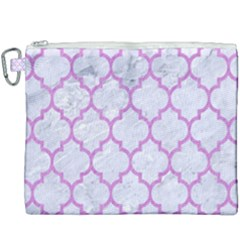 Tile1 White Marble & Purple Colored Pencil (r) Canvas Cosmetic Bag (xxxl) by trendistuff