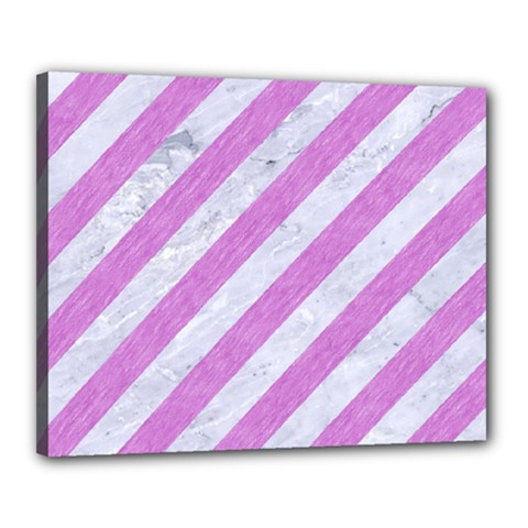 Stripes3 White Marble & Purple Colored Pencil (r) Canvas 20  X 16  by trendistuff