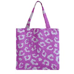 Skin5 White Marble & Purple Colored Pencil (r) Zipper Grocery Tote Bag by trendistuff