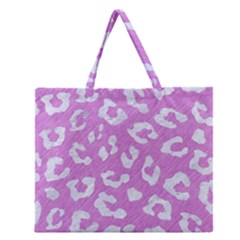 Skin5 White Marble & Purple Colored Pencil (r) Zipper Large Tote Bag by trendistuff