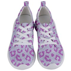 Skin5 White Marble & Purple Colored Pencil Women s Lightweight Sports Shoes