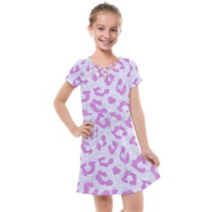 Skin5 White Marble & Purple Colored Pencil Kids  Cross Web Dress
