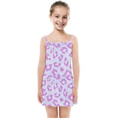 Skin5 White Marble & Purple Colored Pencil Kids Summer Sun Dress