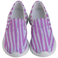 Skin4 White Marble & Purple Colored Pencil Kid s Lightweight Slip Ons