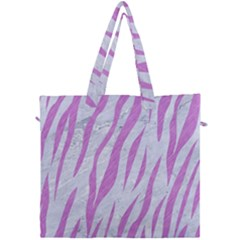 Skin3 White Marble & Purple Colored Pencil (r) Canvas Travel Bag by trendistuff