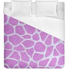 Skin1 White Marble & Purple Colored Pencil (r) Duvet Cover (king Size) by trendistuff