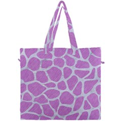 Skin1 White Marble & Purple Colored Pencil (r) Canvas Travel Bag by trendistuff
