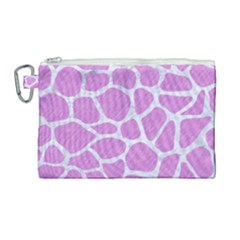 Skin1 White Marble & Purple Colored Pencil (r) Canvas Cosmetic Bag (large) by trendistuff