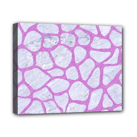 Skin1 White Marble & Purple Colored Pencil Canvas 10  X 8  by trendistuff