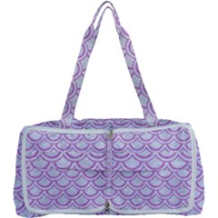 Scales2 White Marble & Purple Colored Pencil (r) Multi Function Bag