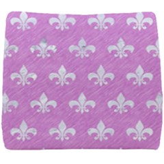 Royal1 White Marble & Purple Colored Pencil (r) Seat Cushion
