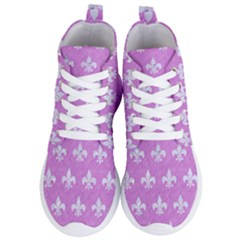Royal1 White Marble & Purple Colored Pencil (r) Women s Lightweight High Top Sneakers